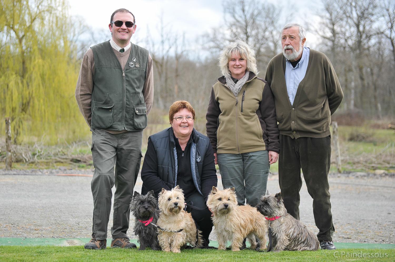 Nos chiens avec les juges