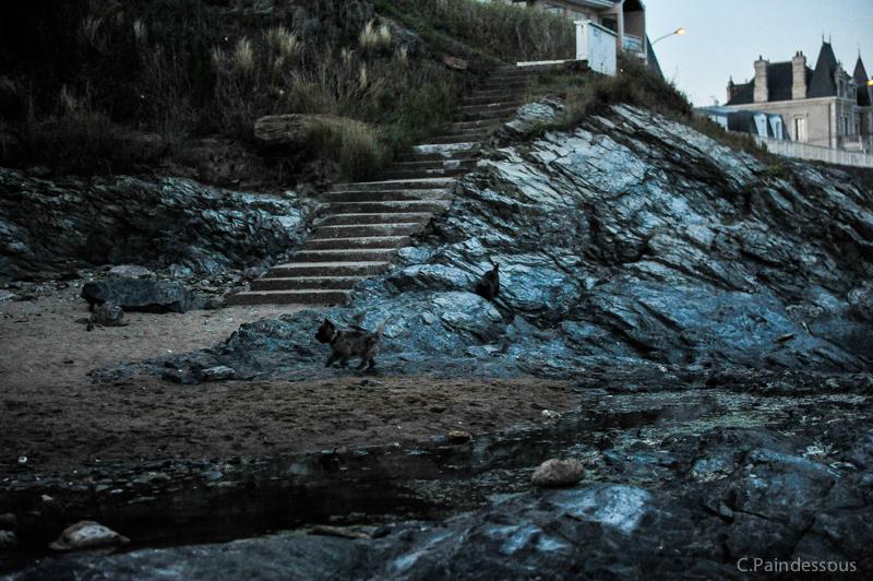 Héra et Ilou (dans les rochers)